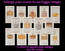 Cigarette cards Famous Crowns 1938 set
